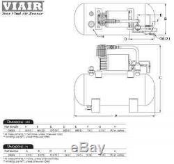 TRIPLE TRUMPET TRAIN AIR HORN VIAIR 20003 120psi Kit 275c 1.5G On Board System
