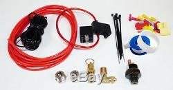 Train Air Horn Kit Three Separate Huge Trumpets, 12-Volt 150 PSI Compressor