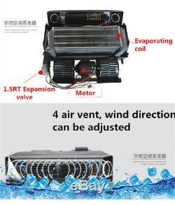 Universal 12V A/C AC KIT Underdash Evaporator Compressor Air Conditioner 3 Speed