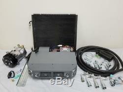Universal Underdash AC Air Conditioning Evaporator Kit Compressor Hoses Fittings