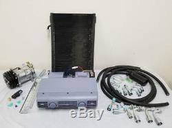 Universal Underdash AC Air Conditioning Evaporator Kit Hoses Fittings Compressor