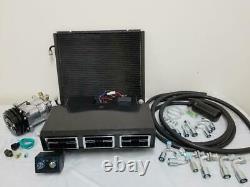 Universal Underdash Air Conditioning AC Evaporator Kit Hoses Fittings Compressor