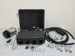 Universal Underdash Air Conditioning Evaporator AC Kit Heat Cool Compressor Hose