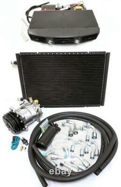 Universal Underdash Air Conditioning Evaporator AC Kit Hoses Compressor Fittings