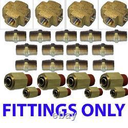 V XFITX Air suspension valves FITs all U need for 8 Brass Valves 1/2