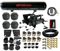 Valves 7 Switch 580 Black Air Compressors & Tank Air Ride Kit For 1958-64 Impala