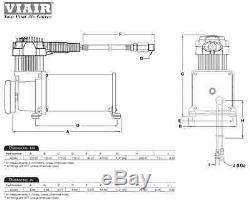 Viair 10005 400c Compressor 150psi Heavy Duty On Board Air System 2.5g Horn Bag