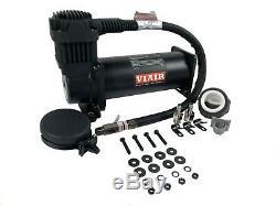 Viair 44442 Dual Air Suspension 444c Compressor Kit Stealth Black Dual Pack