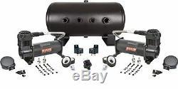 Viair 444C Dual Black Air Compressors 5 gal Tank Air Ride Combo kit 200psi