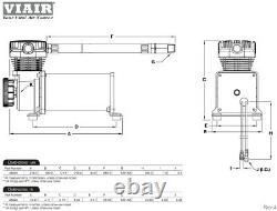 Viair 480C Single Compressor CHROME 200 psi Air Ride Suspension Train Horns 480