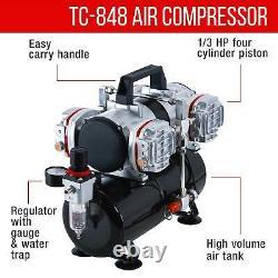 0,2 0,3 0,5 Détail Fin Kit D'aérographe À Double Action Gravity 4 Compresseur D'air À Piston