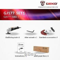 110v Outil Électrique Multifonction Oscillant À Vitesse Variable Multi Kit D'outils
