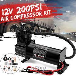 12v 200psi Max Corne Compresseur D'air Kit 10 Gallons Avec Relais Commutent Camion Bateau