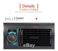 12v Voiture Climatiseur Kit De Refroidissement Sous Dash 3 Évaporateur Compresseur Niveau A / C