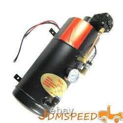 150 Psi 3 Litres Compresseur D'air Avec Chrome Quatre Trompette Compact Train Air Horn
