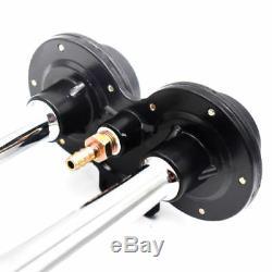 150db 12v Double Trompette Air Horn Compresseur Kit Pour Train Voiture Camion Bateau Handy