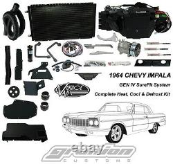 1964 Chevy Impala Avecfactory A/c Heat Defrost Air Conditioning Complete Kit