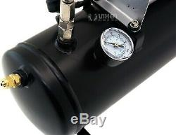 1,5 Gal Réservoir D'air / 150 Psi Compresseur Système Embarqué Kit F / Train Corne 12v Vxo8530