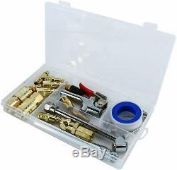 22pc Outils Pneumatiques Kit D'accessoires En Laiton Compresseur Pneumatique Tuyau Soufflette Ensemble D'outils