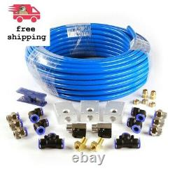 26-pcs Garage Shop Compressed Air Line Kit Rapid Fit Complete System 100 Ft. 1/2