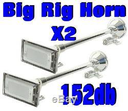 2 X Big Rig Camion Air Horn Kit Viair 275c Compresseur 1 150 Psi Système G. Mack