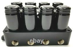 3/8 Kit De Gestion De L'air Complet Avec 580 Compresseurs Chrome Tank Evolve Manifold