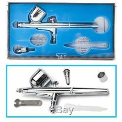 3 Airbrush Kit Compresseur À Double Action Air Spray Brosse À Ongles Tattoo Air Outil Pinceau
