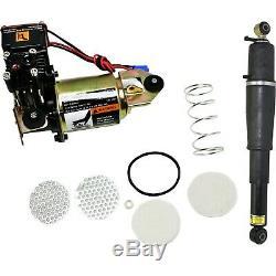 3 Piece Suspension Pneumatique Kit Arrière Assemblées Électrocuter Avec Compresseur Pour Chevy Gmc