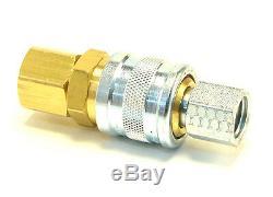 40 Pcs Heavy Duty Attache Rapide Tuyau D'air Raccords Connecteur 1/4 Outils Npt Plug