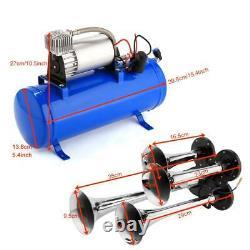 4 Trumpet Train Air Horn 12v Compresseur Et Kit Set For Vehicle Trucks Car Dr