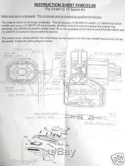 5140112-17 Dewalt Scie À Onglets Commutateur Kit Oem 287948-00 Dw704 & Replaces Dw705