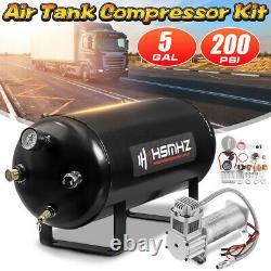 5 G Réservoir D'air 200 Psi Compresseur Kit Système Fort Pour Train Truck Rv Horn 12v