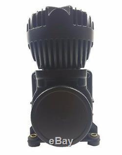 5 Gallons Réservoir D'air En Aluminium Noir Et Deux Compresseurs D'air 580 De Noir Airmaxxx