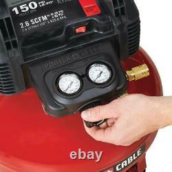 6 Gal. Compresseur D'air Électrique Portable 150 Psi Avec 3 Pistolets À Ongles Combo Kit