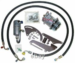 73-76 Chevy Gmc Truck Bb V8 Ac Compresseur Upgrade Kit Air Conditioning Stage 1
