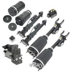 7pcs Avant Et Arrière De L'air Struts Avec Ads + Kit Compresseur Pour Mercedes ML W164 X164