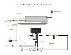 Accuair Endo-ct Brut En Aluminium Réservoir D'air Lift Performance Management Kit 27685 3p