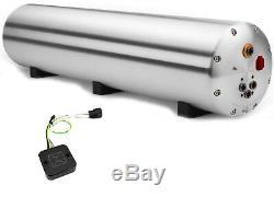 Accuair Endo-cvt Aluminium Brut Réservoir Avec Compresseur D'air 4-angle Vannes Et Adaptateur