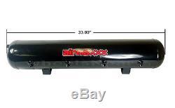 Airmaxxx 480 Dual Black Compressors Kit De Suspension De Coussin Gonflable De Réservoir De 200 Gallons