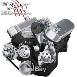 Big Block Chevy Serpentine Poulie Kit De Conversion Climatisation 454 Lwp Bbc