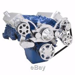 Big Block Ford Serpentine Poulie Kit 429 460 Bbf Ac A / C Système De Climatisation