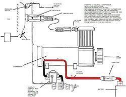 Boss Px01 En Kit Cabine Pour Le Sac À Suspension Pneumatique Gauge Compresseur Commutateurs De Conduite D'air