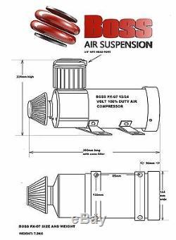 Boss Px07 De Compresseur D'air Tressé Tuyau Pression Switch Vérifiez Électrovanne