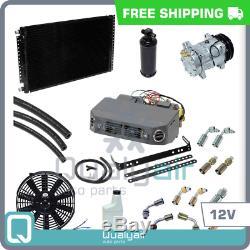 Brand New Ac Kit Universal Sous Dash Kit Compresseur Climatiseur 12v