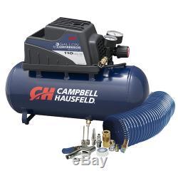 Campbell Hausfeld 3-gallon Hot Dog Compresseur D'air Avec Le Kit De Gonflage