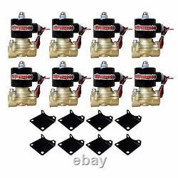 Chevy S10 Air Kit Pewter Compresseurs D'air 25 & 26 1 / 2nt Valves Blk Avs 9