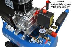 Compresseur D'air 25l Ltr Litre 4 Cfm 2.5hp 8 Bar Portable 2800rpm + 5pc Air Kit