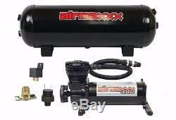 Compresseur D'air 480 Noir Airmaxxx 3 Gallons Réservoir D'air De Vidange 120 Sur 150 Hors Commutateur