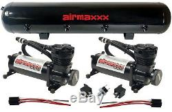 Compresseur D'air Airmaxxx 480 Noir 5 Sac Gallons Air Suspension 180psi Kit
