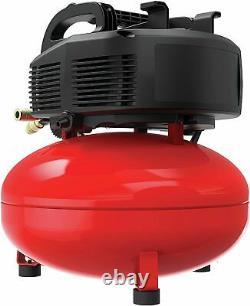 Compresseur D'air Artisanal, 6 Gallon, Pancake, Sans Huile Avec Kit D'accessoire 13piece